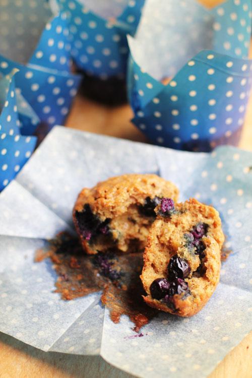 whole wheat blueberry muffins from @janemaynard