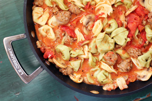 bertucci's tortellini with sausage, mushrooms and light creamy tomato sauce from @janemaynard