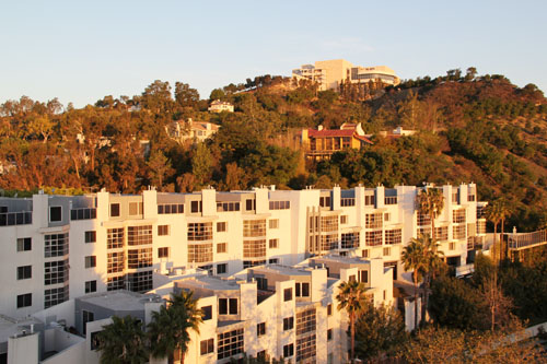 hotel angeleno morning view of the getty by @janemaynard