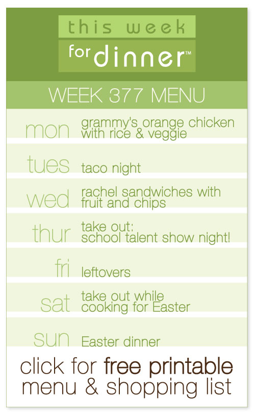 weekly menu from @janemaynard with FREE printable weekly meal plan and shopping list