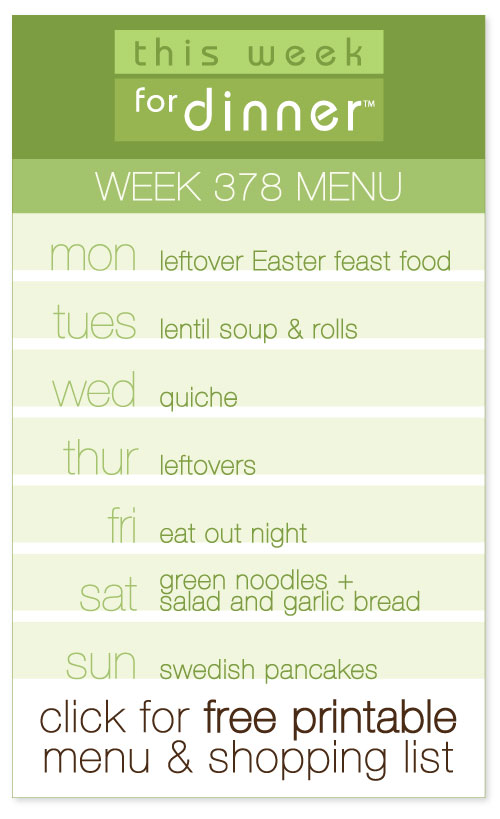 weekly meal plan with free printable menu and shopping list from @janemaynard