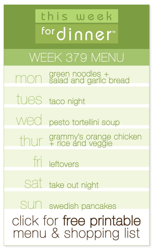 weekly dinner plan from @janeymaynard with FREE printable menu and shopping list!