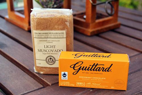 fair trade guittard baking chocolate and india tree muscovado sugar from @janemaynard