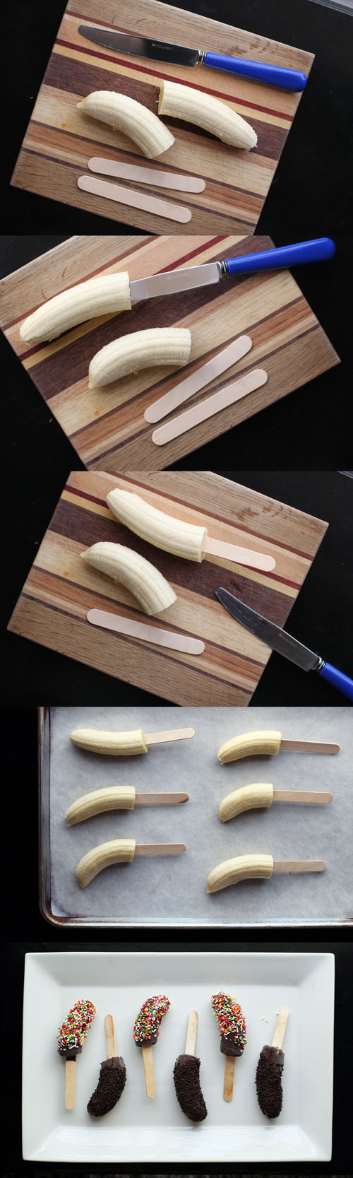 how to eat a frozen banana