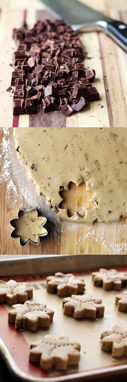 making fair trade chocolate chunk shortbread from @janemaynard