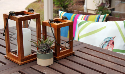 outdoor pillows | patio makeover by @janemaynard