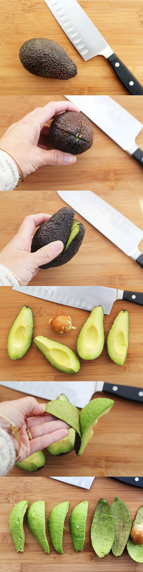 pitting and cutting avocados by @janemaynard