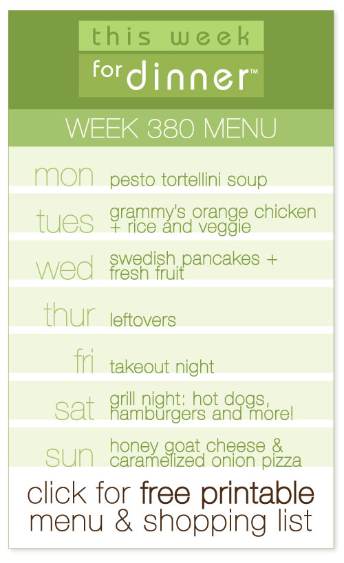 weekly meal plan from @janemaynard including FREE printable menu and shopping list
