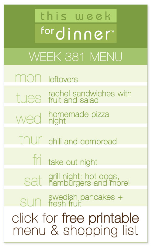 weekly dinner plans from @janemaynard with free printable menu and shopping list