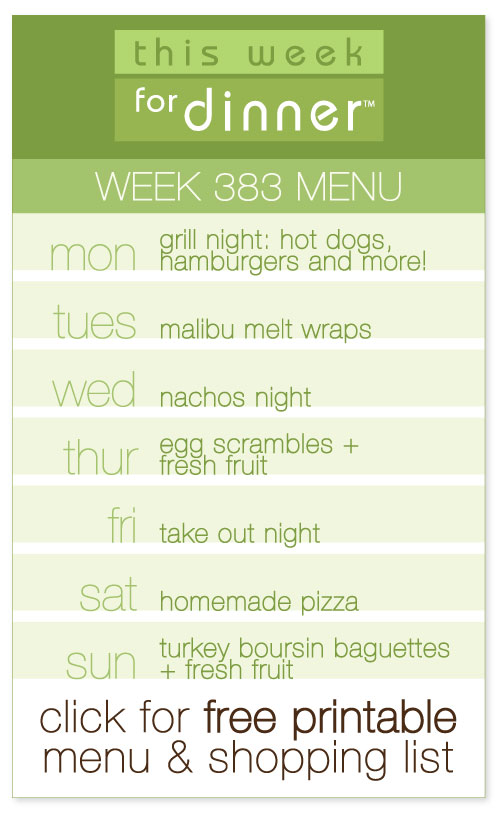 weekly meal plan from @janemaynard including FREE printable menu and shopping list!