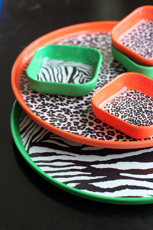 kids' melamine serving trays by q squared nyc by @janemaynard