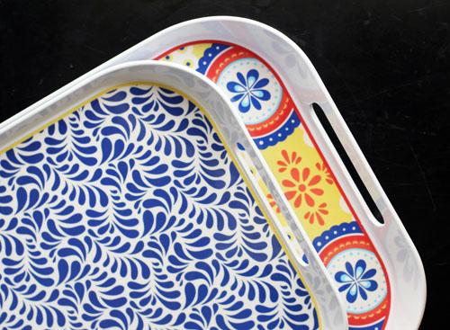 montecito melamine serving trays from q squared nyc by @janemaynard