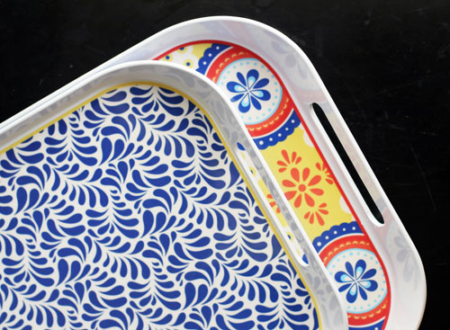 montecito melamine serving trays from q squared nyc by @janemaynard