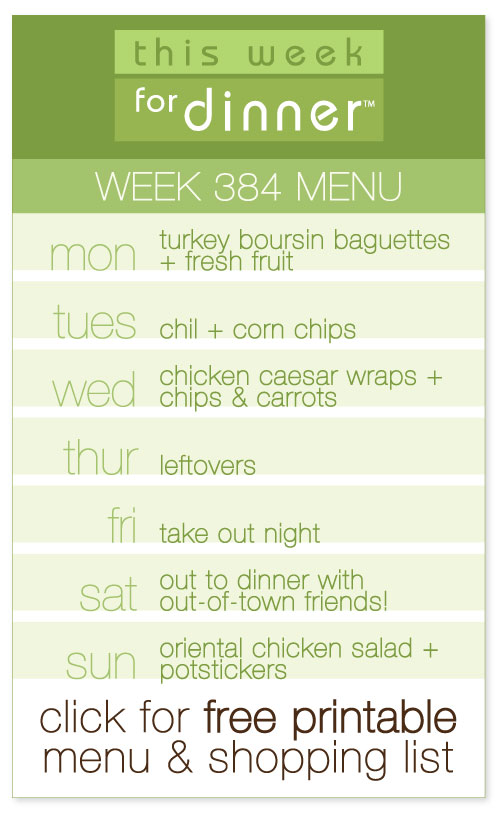 weekly meal plan from @janemaynard including FREE printable with menu and shopping list!