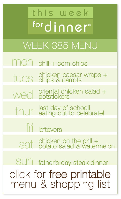 weekly menu from @janemaynard including FREE printable meal plan and shopping list