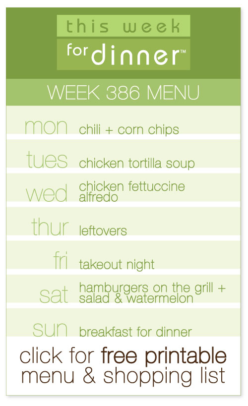 weekly menu from @janemaynard including free printable with meal plan and shopping list