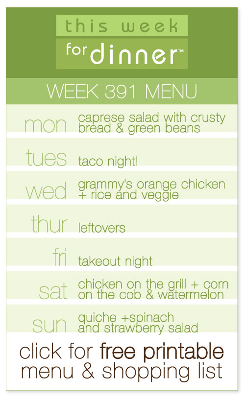 weekly dinner plans from @janemaynard including FREE printable menu and shopping list!