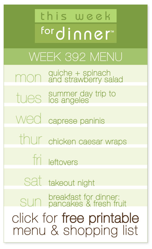 weekly dinner menu from @janemaynard including FREE printable meal plan and shopping list