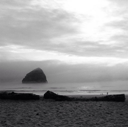 view from the cape kiwanda inn in pacific city, oregon by @janemaynard