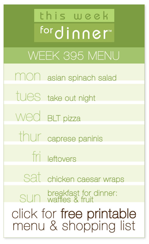 weekly menu from @janemaynard with FREE printable meal plan and shopping list