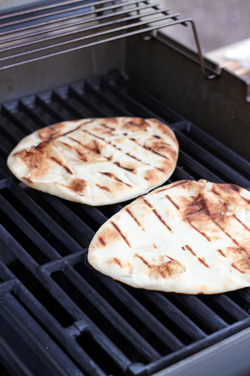 naan pizza, baked or grilled, from @janemaynard - easy and delicious!