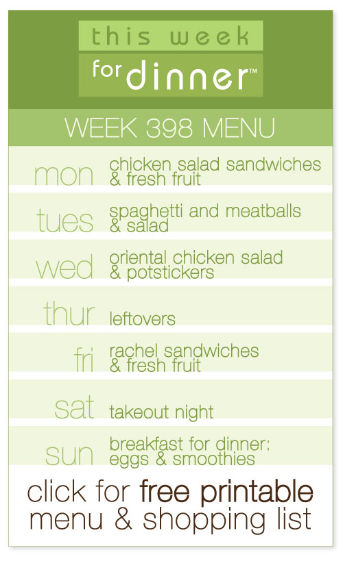 weekly menu from @janemaynard including FREE printable meal plan and shopping list!