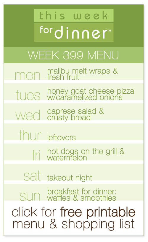 week 399 weekly menu from @janemaynard including FREE printable meal plan and shopping list