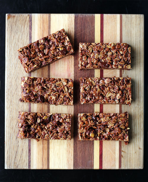fair trade dark chocolate pumpkin seed granola bars by @janemaynard