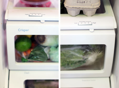 how to use the humidity controls on the crisper drawer from @janemaynard