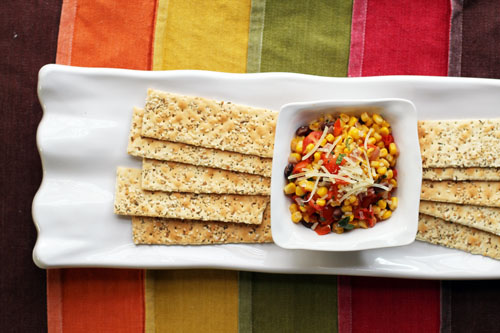 southwestern corn succotash flatbreads by @janemaynard #spon