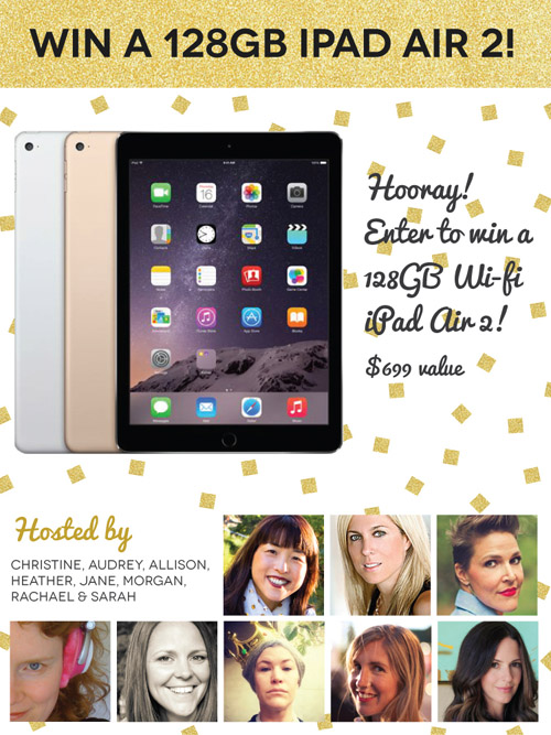 Enter to win a 128 GB iPad Air 2 - happy holidays!!! from @janemaynard