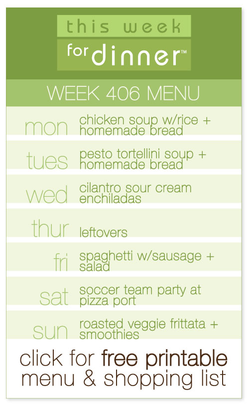 week 406 weekly menu from @janemaynard including FREE printable meal plan and shopping list