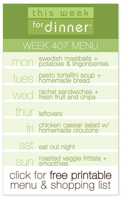 week 407 weekly menu from @janemaynard including FREE printable meal plan and shopping list