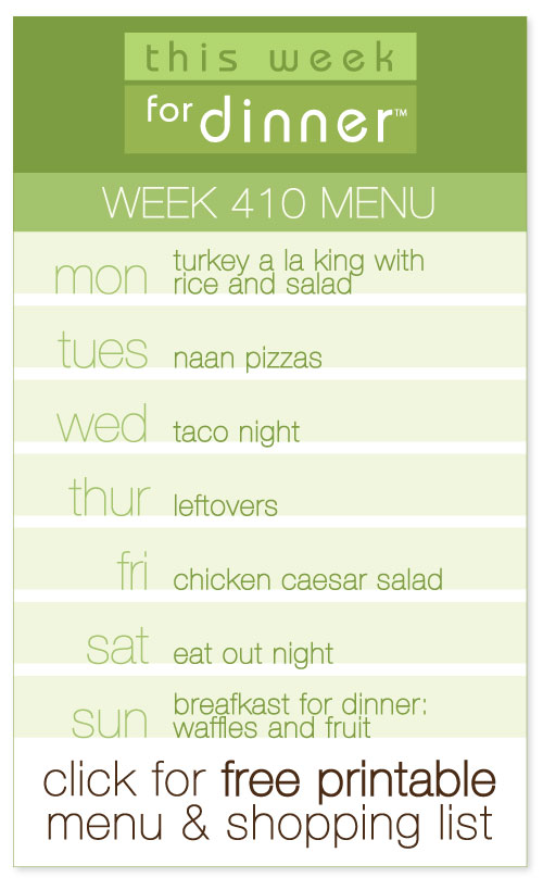 week 410 weekly menu from @janemaynard including FREE printable meal plan and shopping list