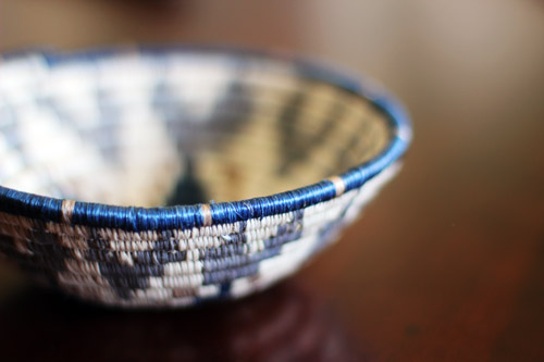 "the small navy/silver all across africa basket from 'to the market"" by @janemaynard"