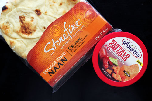 alouette cheese and stonefire naan