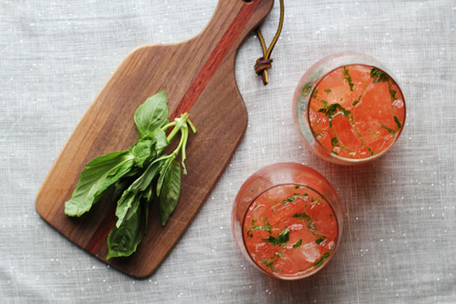 sparkly blood orange basil mocktail from @janemaynard