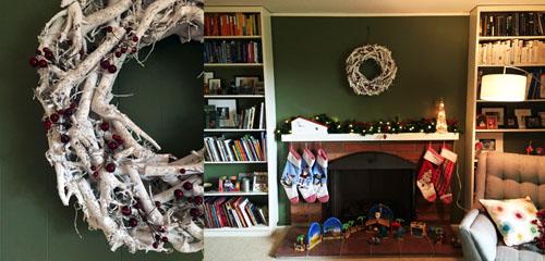 white christmas wreath