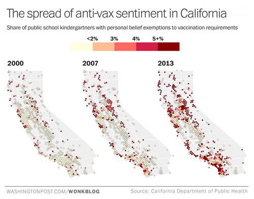 the growth of anti-vax sentiment in CA