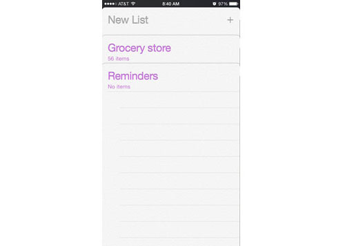 iphone reminders grocery list step 1