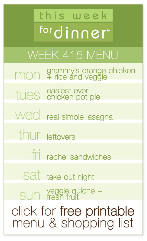 week 415 weekly menu from @janemaynard including FREE printable meal plan and shopping list!
