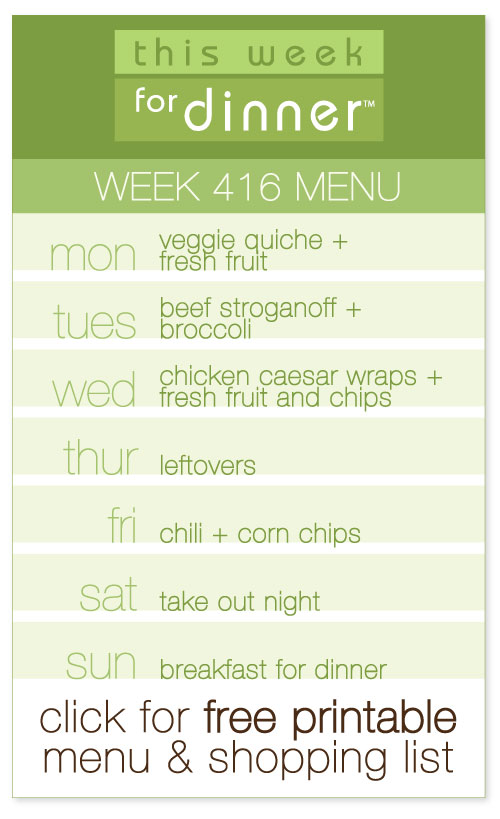 week 416 weekly menu from @janemaynard including FREE printable meal plan and shopping list