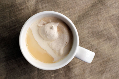 bourbon chai with spiced bourbon cream from @janemaynard