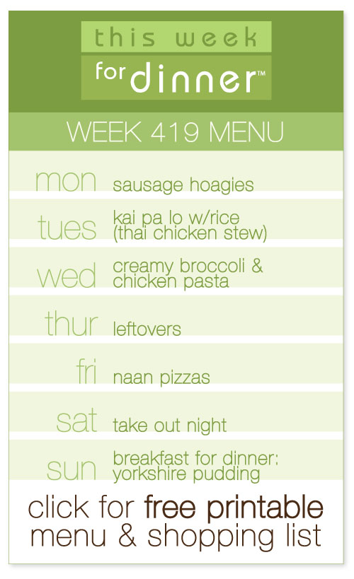 week 419 weekly menu from @janemaynard including FREE meal plan and shopping list!