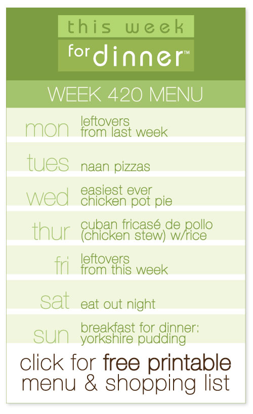 week 420 weekly menu from @janemaynard including FREE printable meal plan and shopping list!