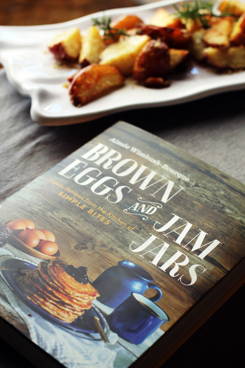"picture of the cookbook ""brown eggs and jam jars"""