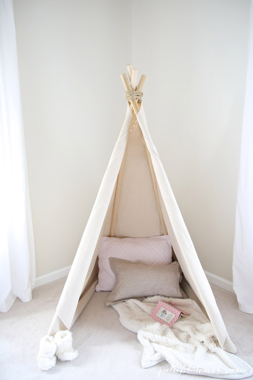 diy no-sew teepee from julie blanner