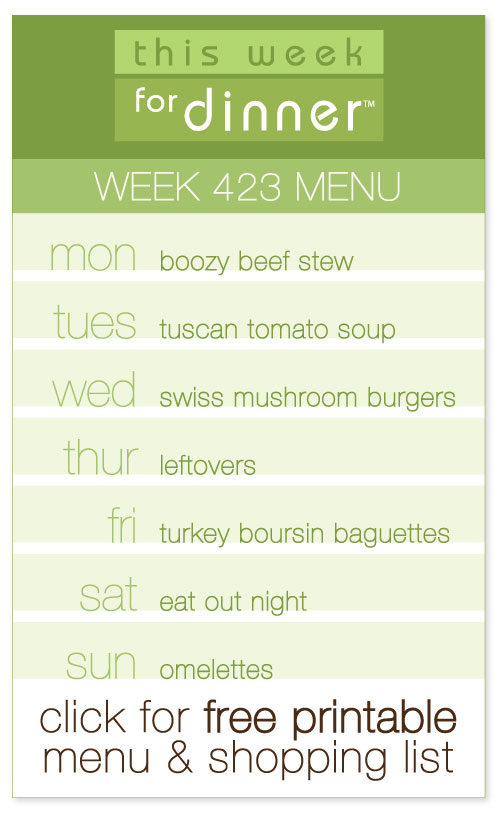 week 423 weekly menu from @janemaynard including FREE printable meal plan and shopping list!