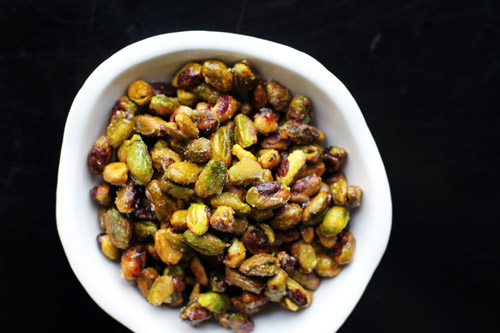 Recipe for candied pistachios, inspired by my visit to Club 33 in Disneyland