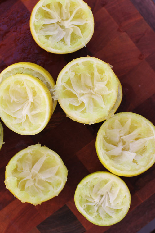 why you need a lemon press from @janemaynard | pictured: squeezed bearss limes